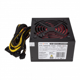 Блок питания LogicPower ATX 500W, fan 12см, 4 SATA, CE,FCC, PCI DX2 6PIN+2PIN